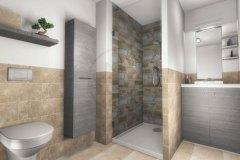 Appartement T2 salle de douche
