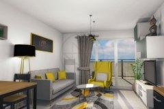 Appartement T2 séjour
