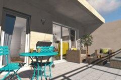 Appartement T2 terrasse