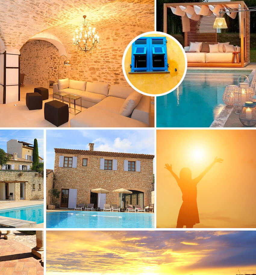 Moodboard agence de location de maisons en Provence